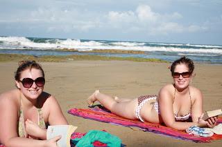 Catching some sun in Punta Uva